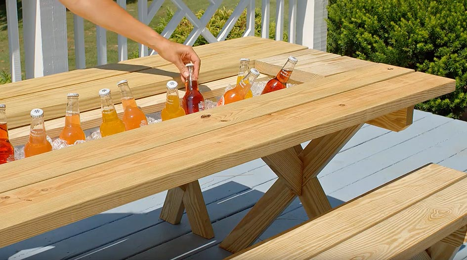 Picnic table yellawood for 8 picnic table plans