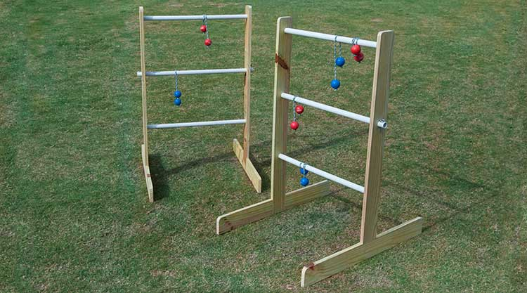 how to build a wood ladder golf game